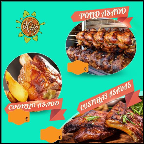 pollo asado En Bar Ocho
