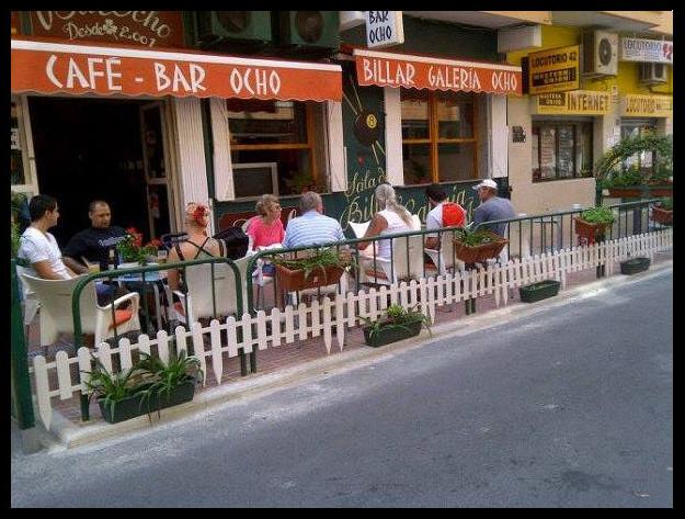 terraza de Café Bar Ocho